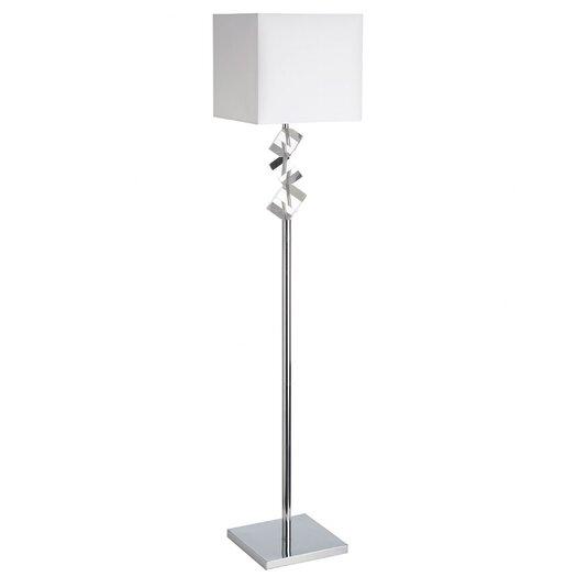 Dainolite 1 Light Crystal Floor Lamp