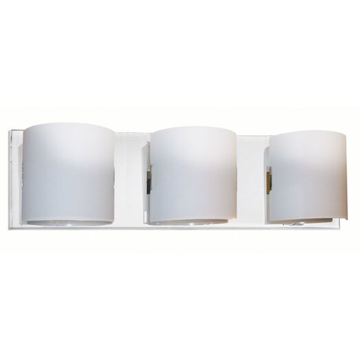Dainolite Frosted Glass 3 Light Bath Vanity Light