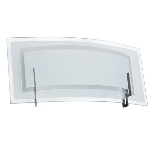 Dainolite Clear Frosted Glass 1 Light Vanity Light