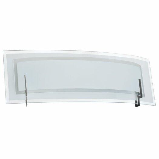 Dainolite Clear/Frosted Glass 2 Light Bath Vanity Light