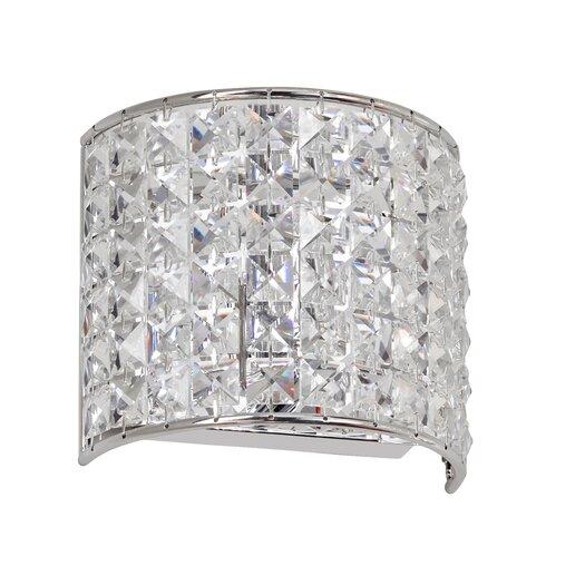 Dainolite Crystal 1 Light Wall Sconce