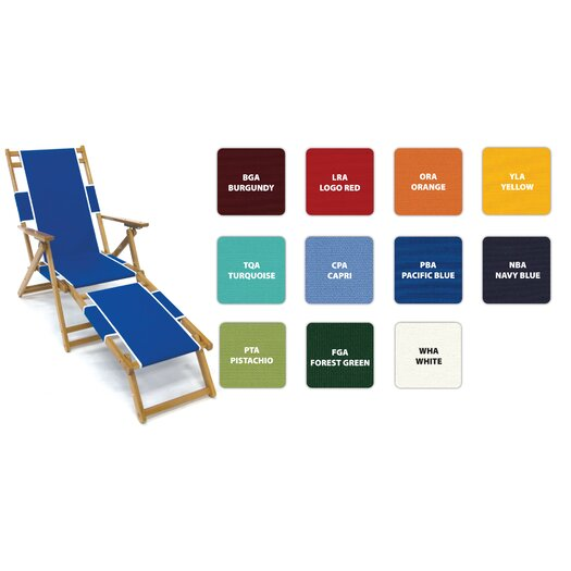 Frankford Umbrellas Oak Wood Commercial Grade Beach Chair