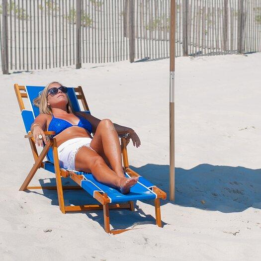 Frankford Umbrellas Oak Wood Commercial Grade Beach Chair
