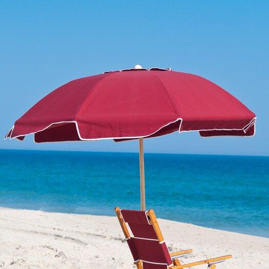 Frankford Umbrellas 7.5 ft. Diameter Fiberglass Commercial Grade Beach Umbrella with Ashwood Center Pole
