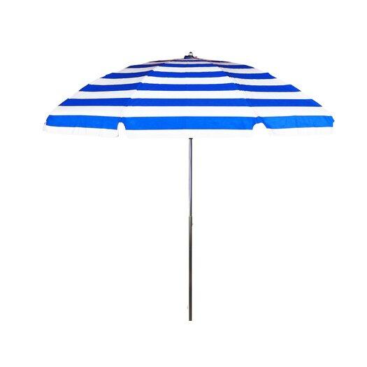 Frankford Umbrellas 7.5 ft. Diameter Steel Commercial Grade Striped Acrylic Beach Umbrella