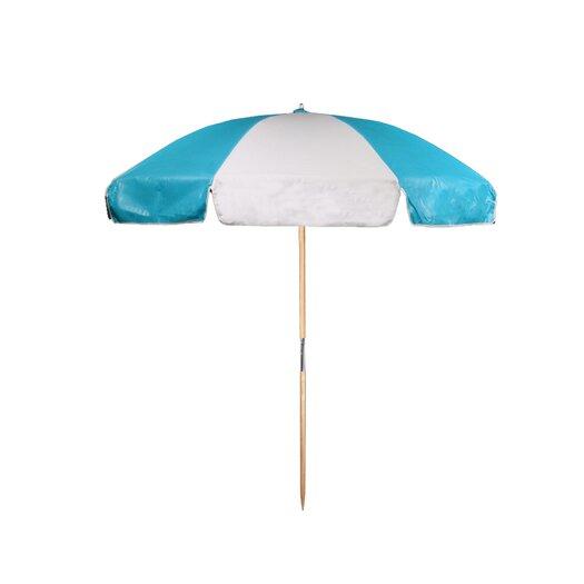 Frankford Umbrellas 7.5 ft. Diameter Steel Commercial Grade Vinyl Beach Umbrella