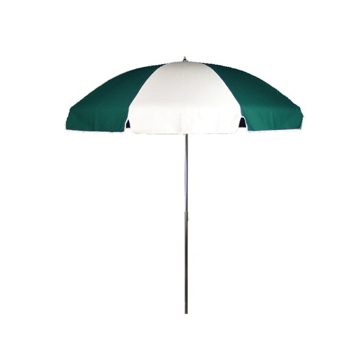 Frankford Umbrellas 7.5 ft. Diameter Steel Commercial Grade Beach Umbrella with Alternating Panels