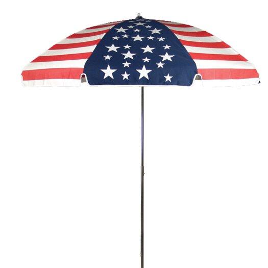 Frankford Umbrellas 7.5 ft. Diameter Steel Commercial Grade American Flag Acrylic Beach Umbrella