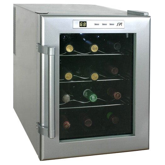 Sunpentown 12 Bottle Wine Single Zone Freestanding Wine Refrigerator