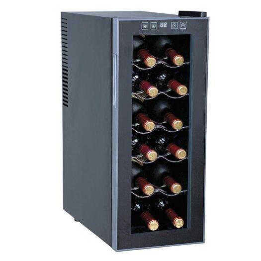 Sunpentown 12 Bottle Single Zone Freestanding Wine Refrigerator