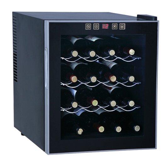 Sunpentown 16 Bottle Single Zone Freestanding Wine Refrigerator