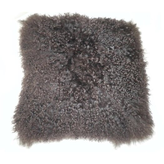 Moe's Home Collection Lamb Fur Throw Pillow