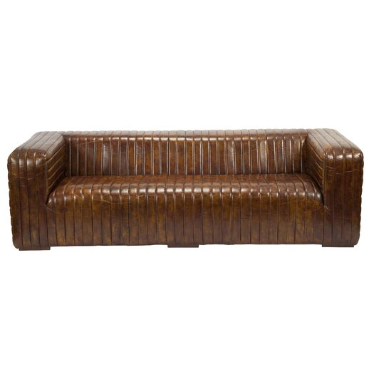 Moe's Home Collection Castle Leather Sofa