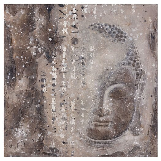 Moe's Home Collection Subtle Buddha I Graphic Art on Wrapped Canvas