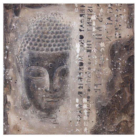 Moe's Home Collection Subtle Buddha II Graphic Art on Wrapped Canvas