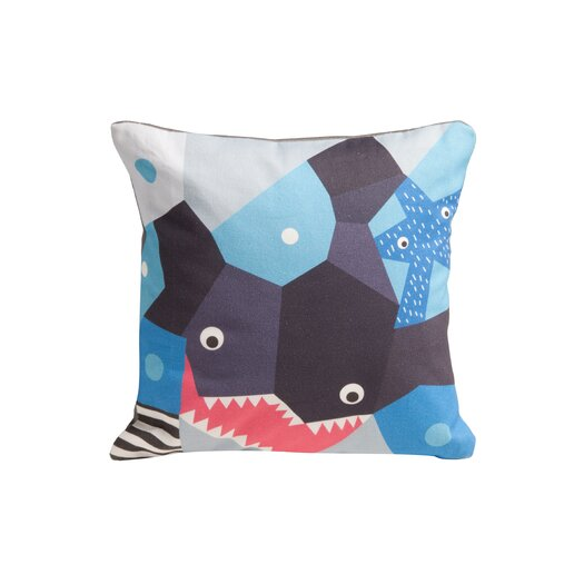 Oceanography Cubist Print Toddler Pillow