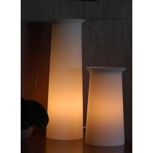 """Offi Flare Tower 12"""" H Table Lamp with Empire Shade"""