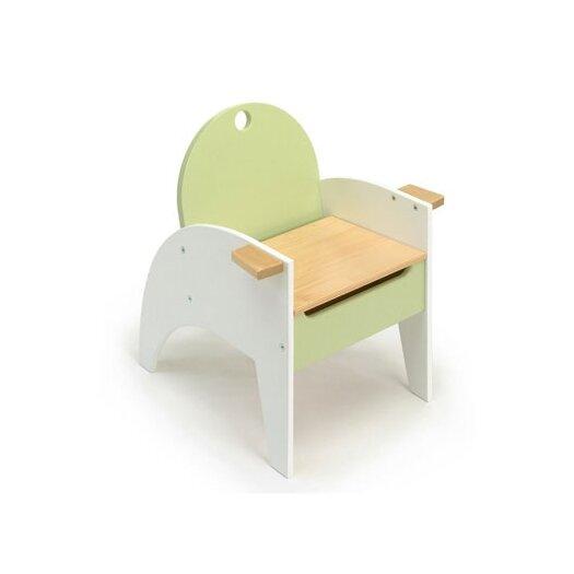 Hide-n-Sit Armchair in Green