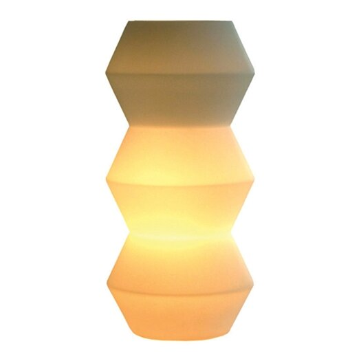 "Offi Zig Zag 11"" H Table Lamp with Novelty Shade"