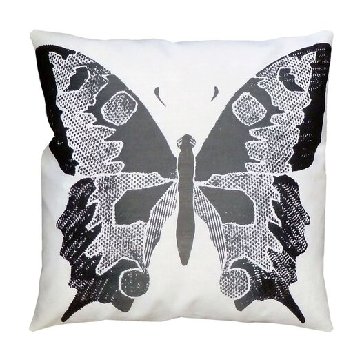 Dermond Peterson Entomology Butterfly Linen Throw Pillow