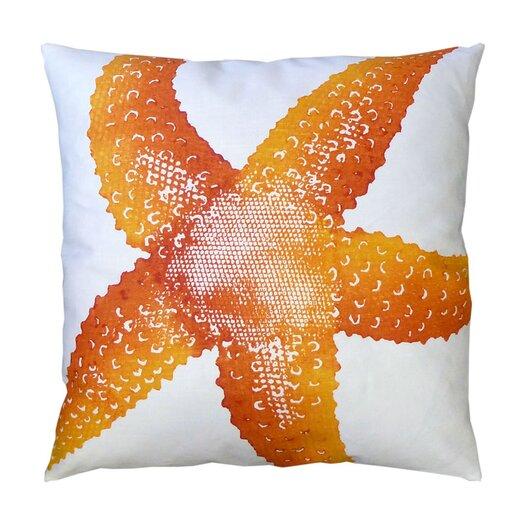 Dermond Peterson Starfish Linen Throw Pillow