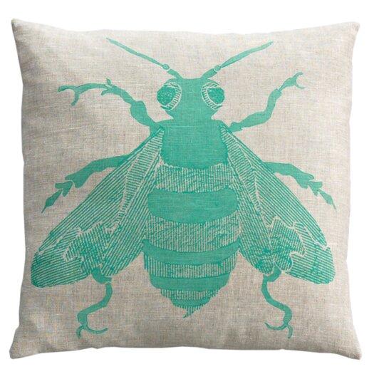 Dermond Peterson Bee Linen Throw Pillow