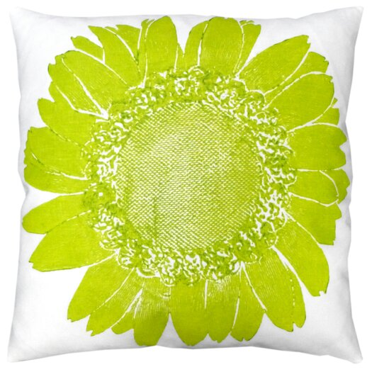 Dermond Peterson Flora Daisy Linen Throw Pillow