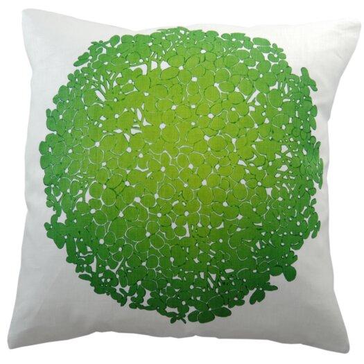Hydrangea Linen Throw Pillow