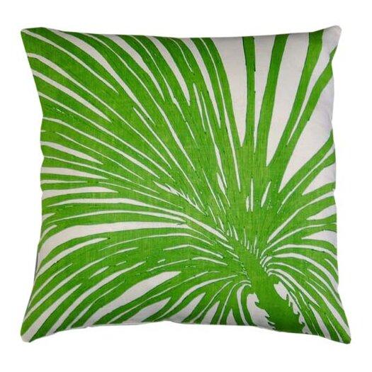Flora Palm Zoom Linen Throw Pillow