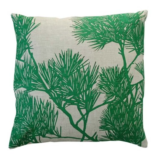 Flora Pine Bough Linen Throw Pillow
