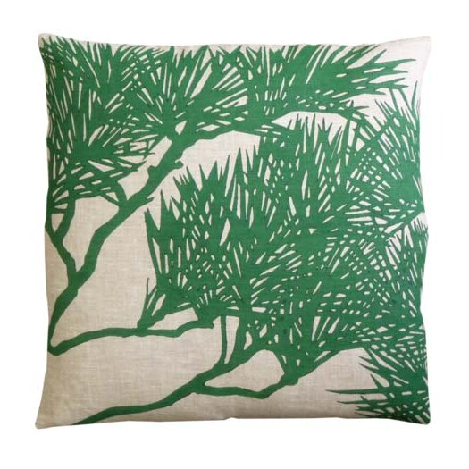 Fllora Pine Bough Zoom Linen Throw Pillow
