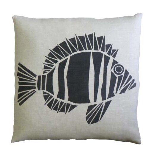 Skandia Fisk Linen Throw Pillow