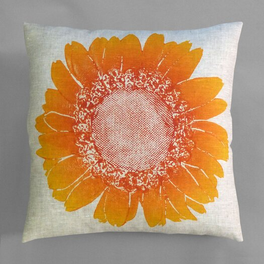 Dermond Peterson Flora Daisy Linen Throw Pillow