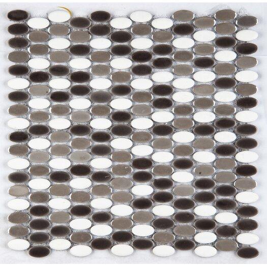 Emser Tile Confetti Porcelain Mosaic Tile in Freddo