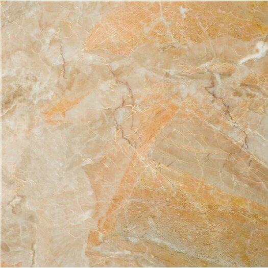 "Emser Tile Natural Stone 12"" x 12"" Marble Field Tile in Breccia Oniciata"