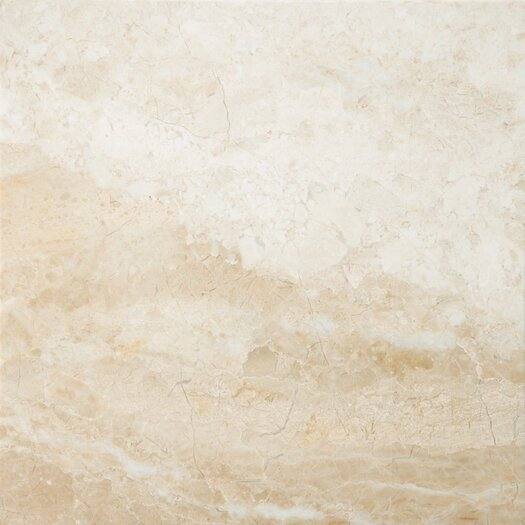 "Emser Tile Natural Stone 18"" x 18"" Marble Field Tile in Milano Beige"