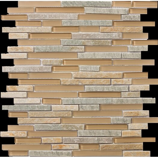 Emser Tile Lucente Random Sized Stone and Glass Mosaic Tile in Putini