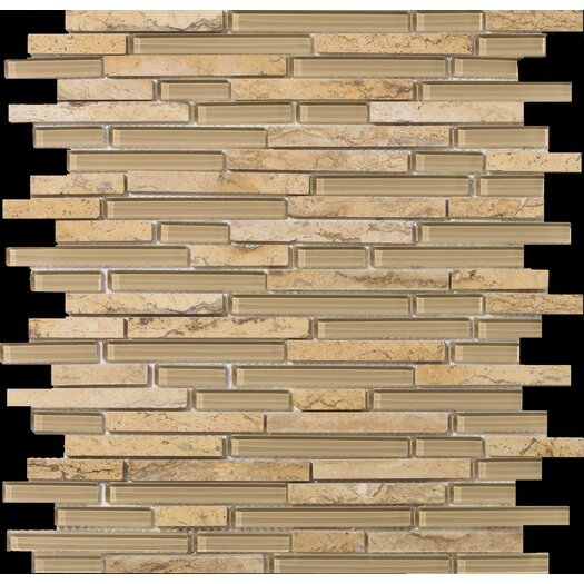 Emser Tile Lucente Random Sized Stone and Glass Mosaic Tile in Regale