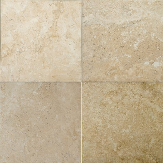 "Emser Tile Natural Stone 16"" x 16"" Travertine Field Tile in Dore Antique"