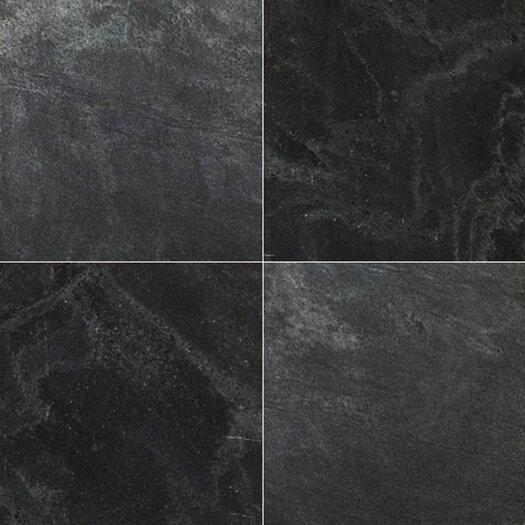 "Emser Tile Natural Stone 16"" x 16"" Slate Field Tile in Silver Gray"