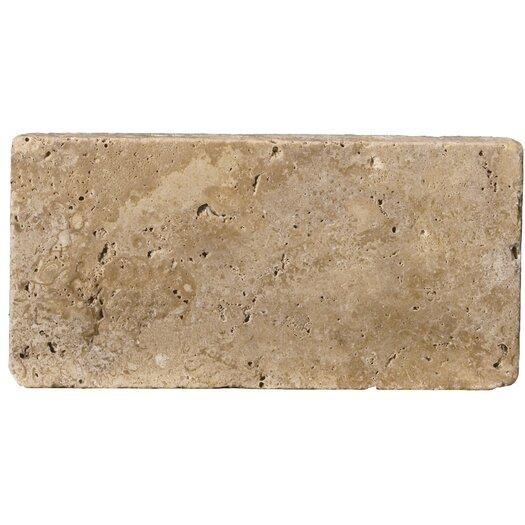 "Emser Tile Natural Stone 8"" x 16"" Travertine Field Tile in Mocha"