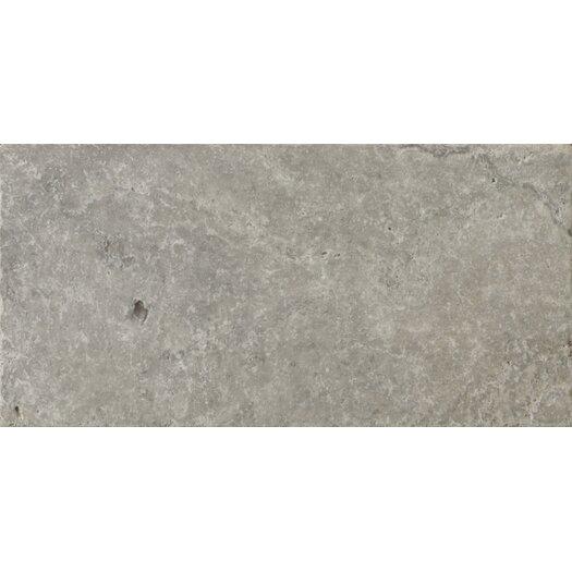 "Emser Tile Natural Stone 8"" x 16"" Travertine Field Tile in Silver"