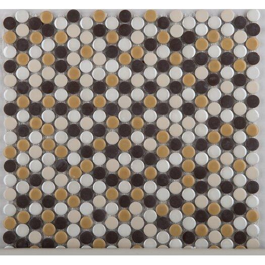 Emser Tile Confetti Porcelain Mosaic Tile in Caldo