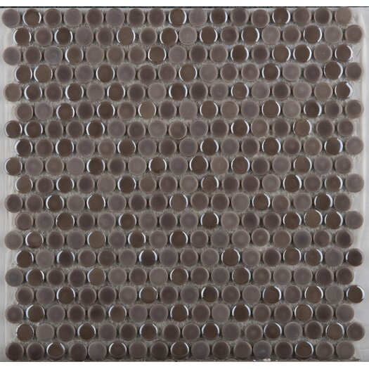 Emser Tile Confetti Porcelain Mosaic Tile in Pewter
