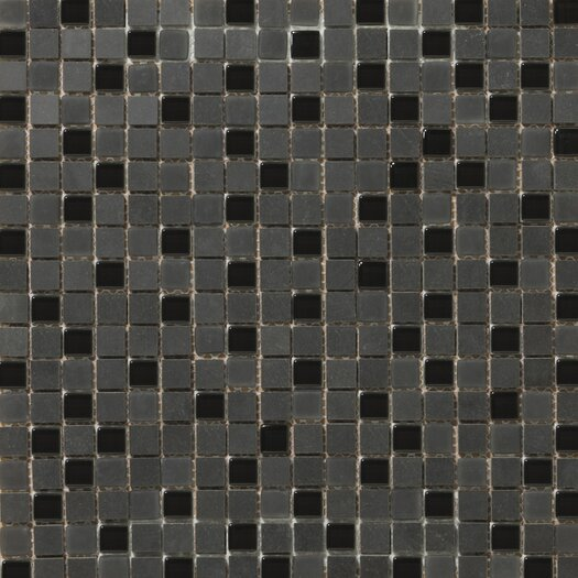 """Emser Tile Lucente 0.63"""" x 0.63"""" Stone and Glass Mosaic Tile in Zanfirico"""