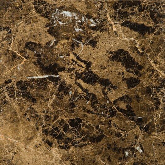 "Emser Tile Natural Stone 12"" x 12"" Marble Field Tile in Marrone Emperador Dark"