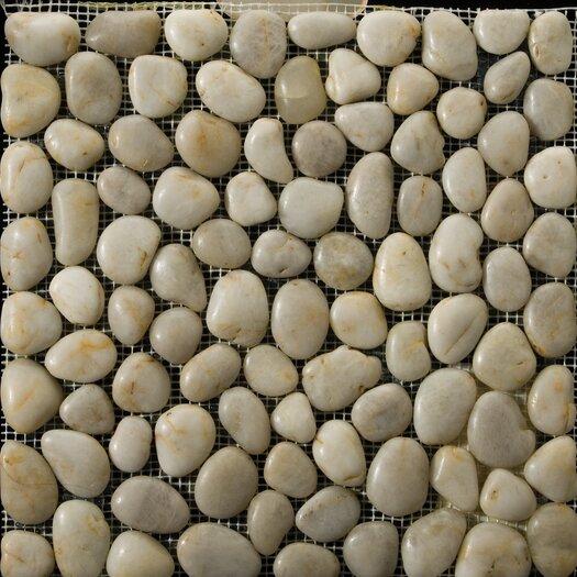 Emser Tile Natural Stone Random Sized Pebble Tile in Cream