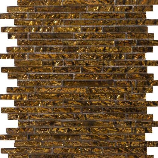 Emser Tile Vista Random Sized Glass Mosaic Tile in Venini Linear