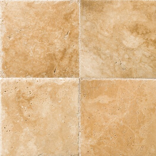 "Emser Tile Natural Stone 16"" x 16"" Travertine Field Tile in Umbia Savera"