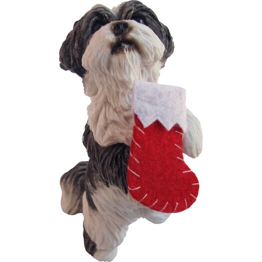 Sandicast Standing Shih Tzu Christmas Ornament